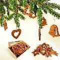 Vánoèní set - døevìných ozdob 8 druhù + krabièka