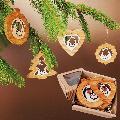 Vánoèní set - døevìných ozdob - vklad betlém - 4 druhy + krabièka